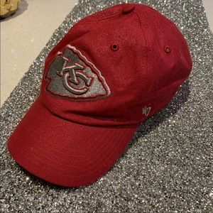 ✨SPARKLY RED KANSAS CITY CHIEFS HAT✨